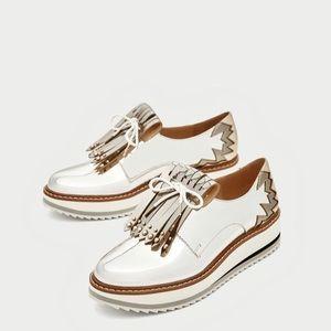 Zara Silver Platform Shoes